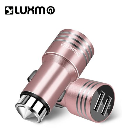 Universal Bolt 2 4a Metallic Dual Usb Car Charger Rose Gold