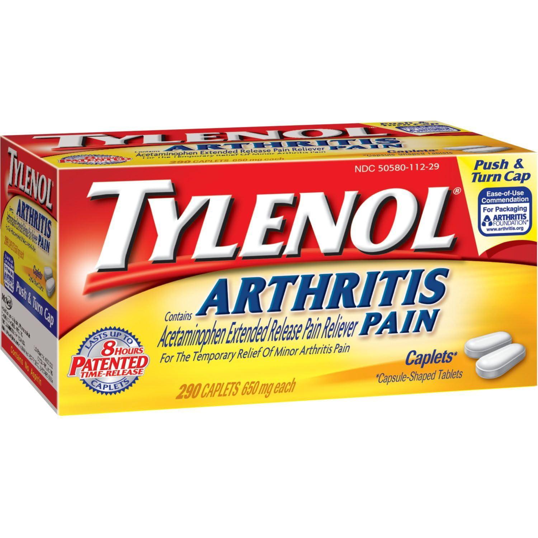 Arthritis Pain Caplets - 290 ct., 290 - 650 mg caplets By Tylenol,USA