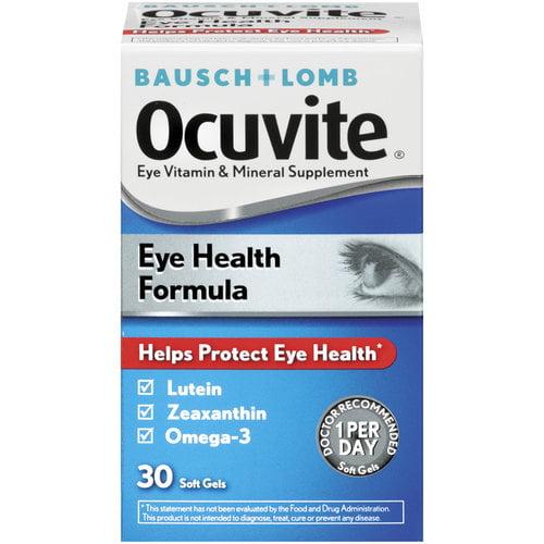 Ocuvite Eye Vitamin & Mineral Supplement Soft Gels, 30 ct