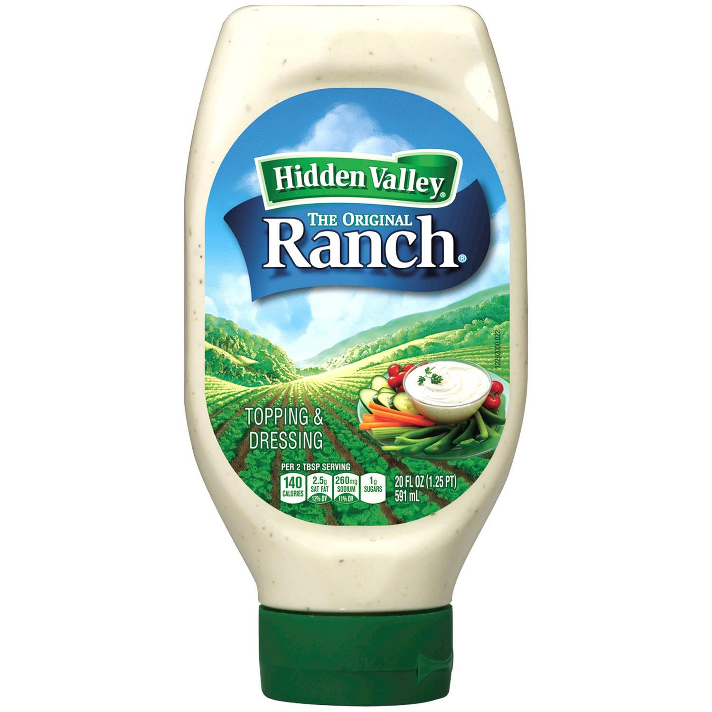 Hidden Valley Original Ranch Dressing, Easy Squeeze Bottle, 20 Fluid Ounces