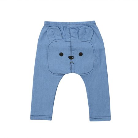 Baby Boy Girl Bear Ears Pattern Casual Legging Pant Spring Autumn Warm Crawling Pant ()