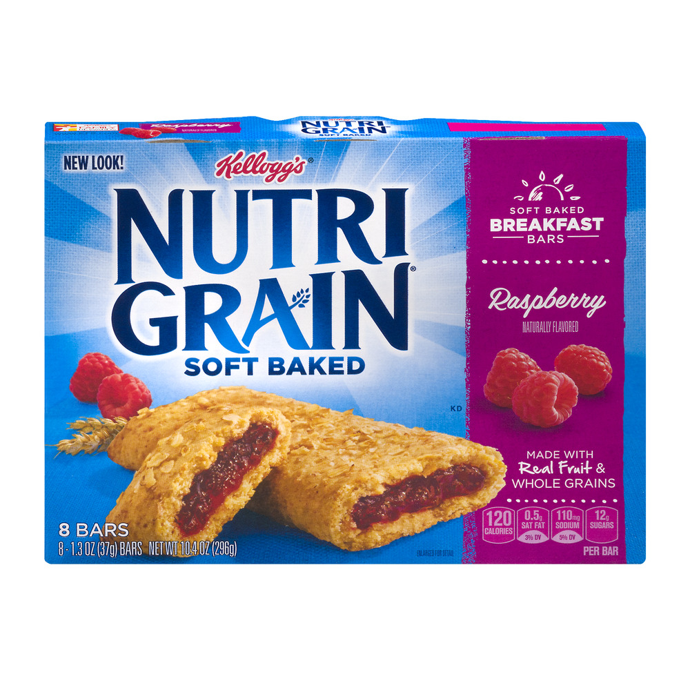 Kellogg's Nutri Grain Soft Baked Bars Raspberry - 8 CT