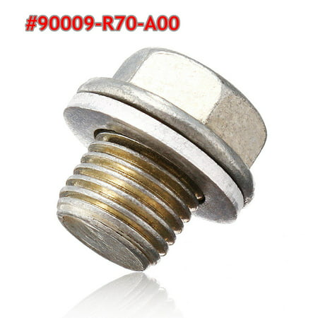 Engine Oil Pan Drain Bolt Plug w/ Washer #90009-R70-A00 For Honda Accord Acura ()