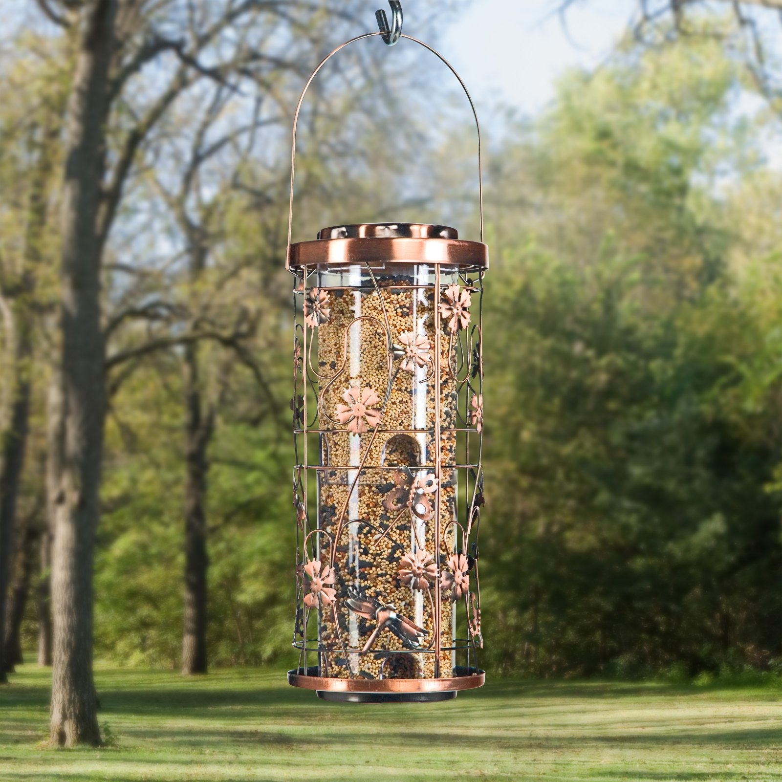 Perky-Pet 4 lb Copper Meadow Wild Birdfeeder by woodstream