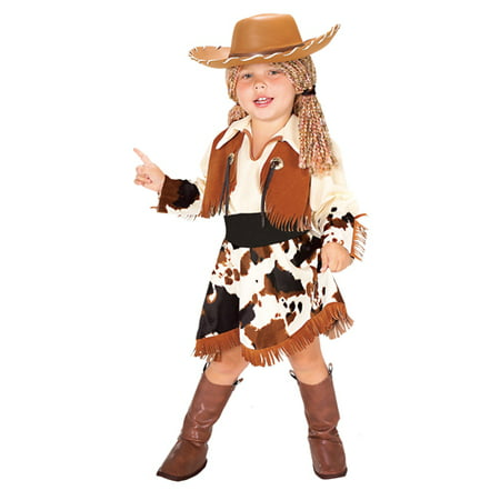 Kids Halloween Costumes - Cowgirl Costume With Hat  TODDLER - Cowgirl Halloween Costume Kids