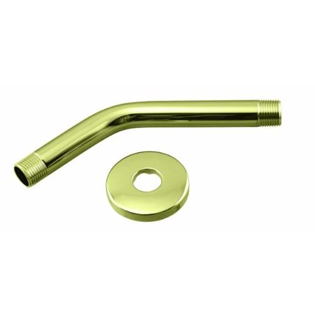 1/2 in. IPS x 8 in. Shower Arm with Flange in Polished Brass