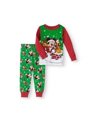 7925ef6144 Product Image Christmas Newborn Baby Boys  Cotton Tight Fit Pajamas 2-Piece  Set