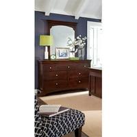 My Home Furnishings Neopolitan- Merlot 1803-102201 7 Drawer Dresser & Beveled Vertical Mirror
