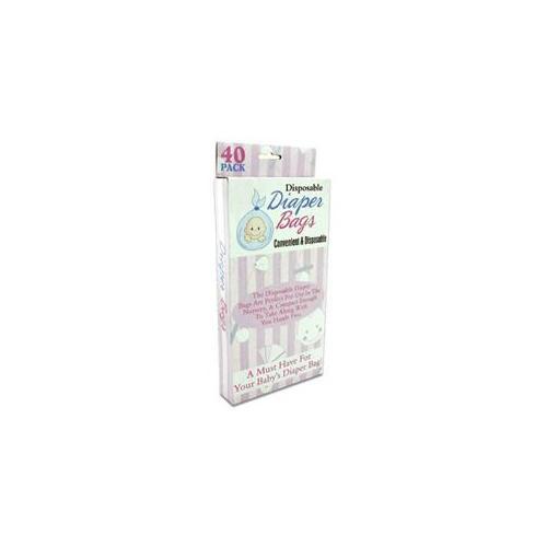 DDI 701767 40 Disposable Diaper Bags Case Of 24
