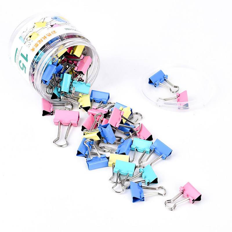 SUPERHOMUSE 19mm Colorful Metal Binder Clips Paper Clip