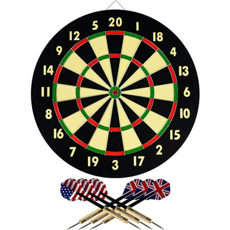 Trademark Games Dart Game Set with 6 Darts and Board