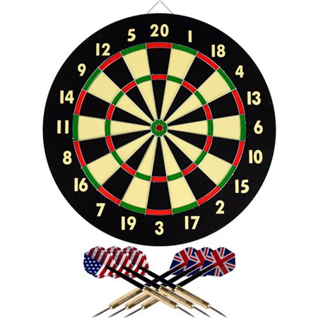 - Trademark Games Dart Game Set with 6 Darts and Board