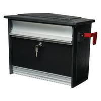 Gibraltar Mailboxes Mailsafe Medium, Aluminum, Locking, Wall-Mount Mailbox, Black, MSK00000