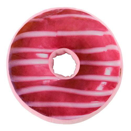 Zoomie Kids Kuhl Reversible Plush Donuts Throw Pillow