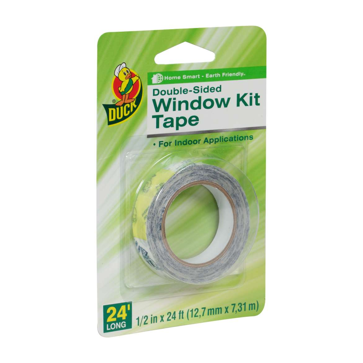 Duck Brand Double-Sided Window Kit Tape - Indoor, .25 in. x 24 ft.