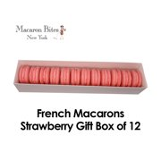 French Macarons Gift Box of 12 - Strawberry