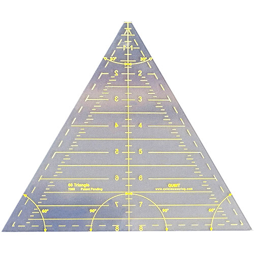 Reverse-A-Ruler Triangle, 60 Degrees