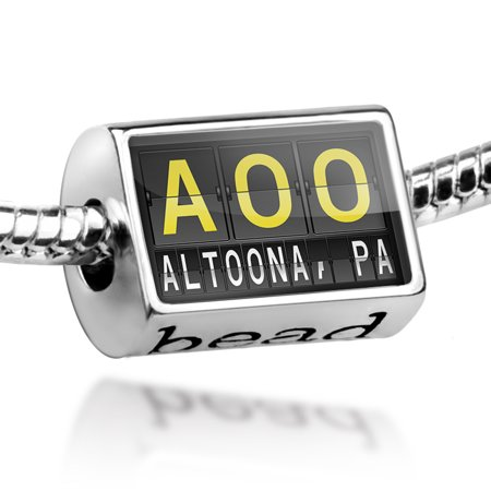 Bead AOO Airport Code for Altoona, PA Charm Fits All European Bracelets (Party City Altoona Pa)