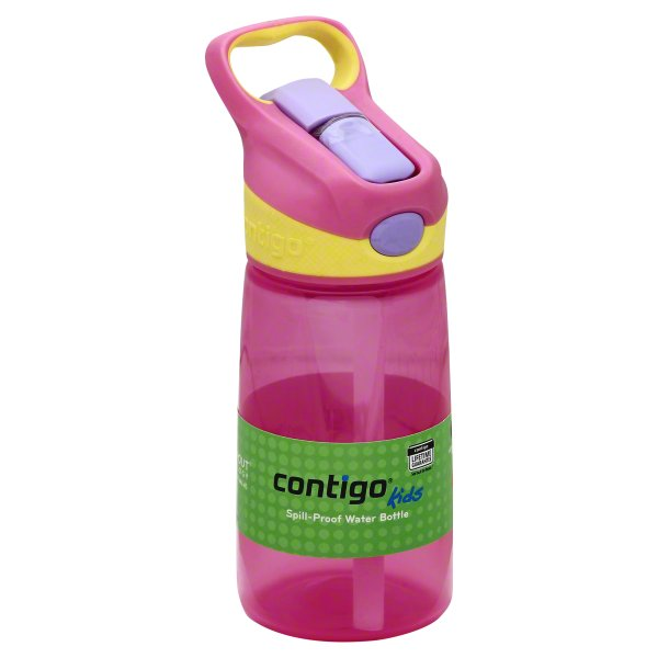 Contigo Kids 14 oz Striker No Spill Petal Pink Water Bottle, 1 bottle