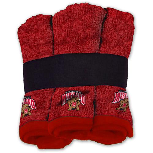 NCAA Maryland Terrapins Wash Cloth Set, 6pk