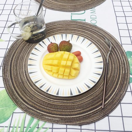 OkrayDirect Round Circle Placemats Table Place Mats Kitchen Dinner Table Heat Pads 35cm CO