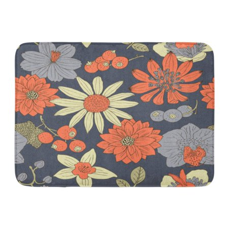 Mat Assortment (GODPOK Beautiful Floral Flower Vintage Retro Spring Antique Assortment Beauty Rug Doormat Bath Mat 23.6x15.7 inch)