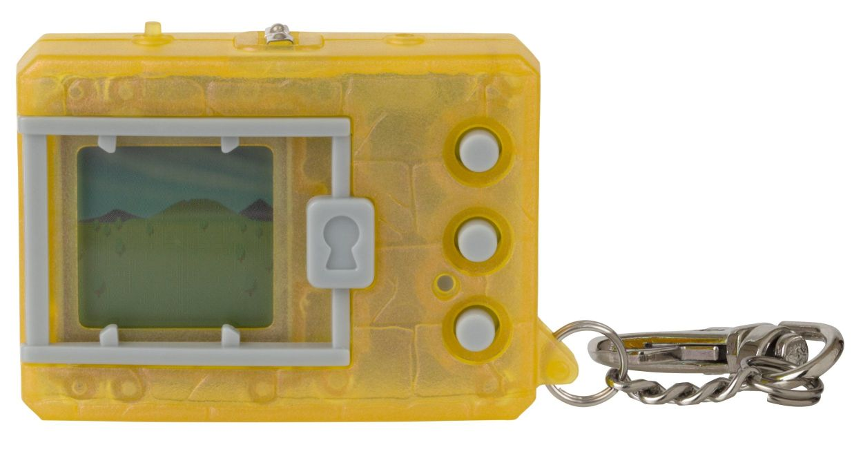 Bandai Original Digimon Digivice Virtual Pet Translucent Yellow