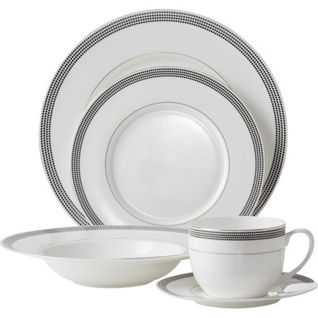 Florentine Bone China - Flato Home Products Bone China Inspiration Pearl 5 Piece Place Setting, Service for 1