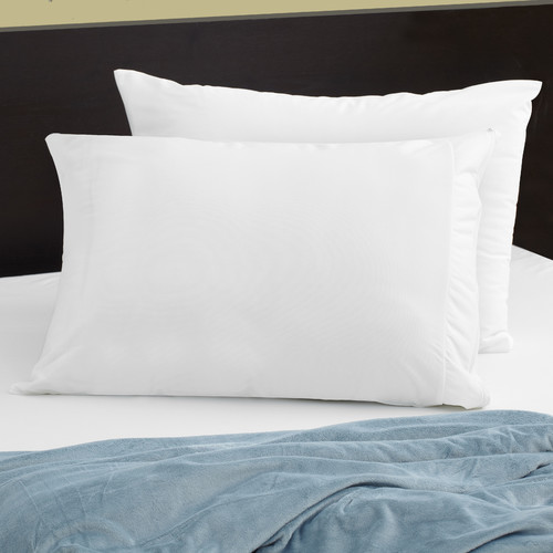 StainGuard® Cotton Terry Pillow Protector QUEEN, White