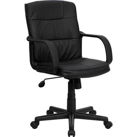 flash furniture mid back office chair black