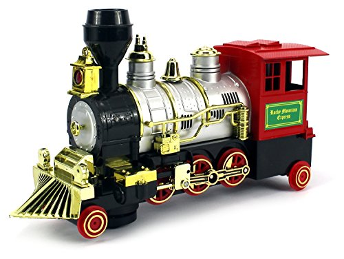 Rocky Mountain Battery Operated Bump and Go Toy Train w  Real Train Horn, Working... by Velocity Toys