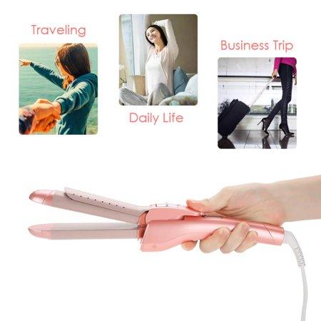 Qiilu 2 In 1 Professional Electric Hair Curler Straightener Hair Styling Tool EU Plug, Hair Straightener, Hair Curling Tool - image 2 of 8