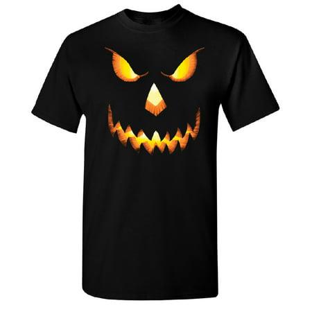 Jack O Lantern Face Men's T-shirt Funny Halloween 2017 Tee Black Small