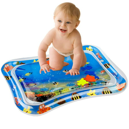 Inflatable Baby Water Mat Infant Tummy Time Playmat Toddler Fun Activity Play Center ()