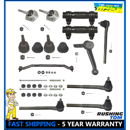 Chevrolet Blazer S10 RWD 95-05 BallJoint Tie Rod Idler Arm Center Link 14 Pc - Chevrolet K2500 Tie Rod