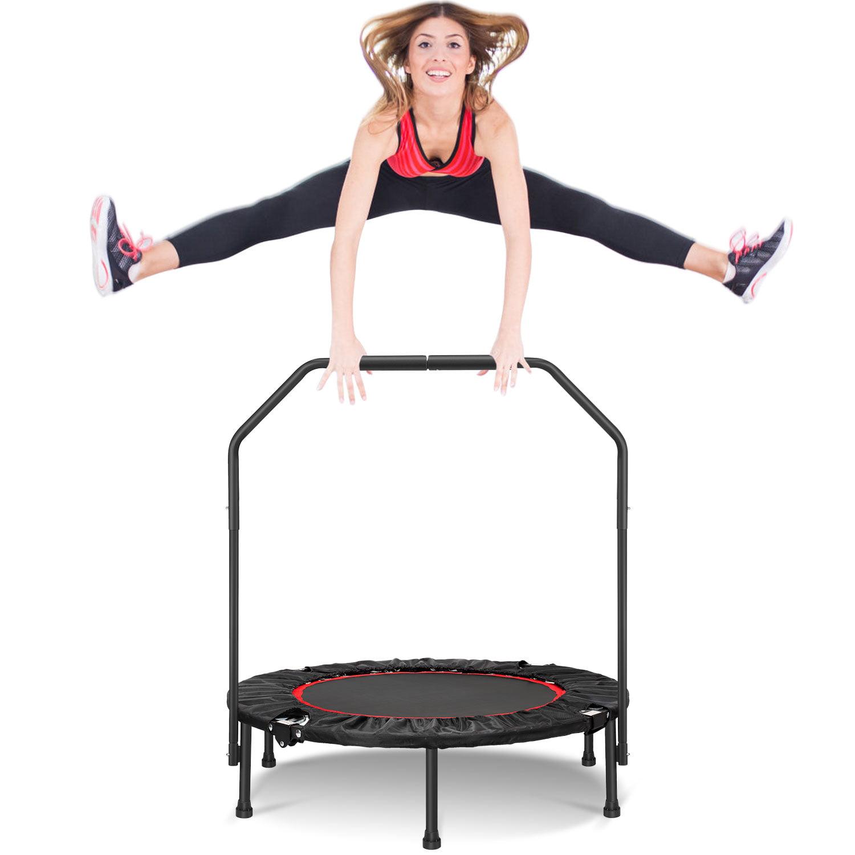 "40/"" Mini Rebounder Trampoline Exercise Fitness Gym Cardio Sport  Adjustable Bar"