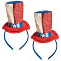 2-Pack Patriotic Uncle Sam Hat Headbands