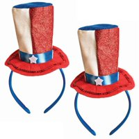 Patriotic Uncle Sam Hat Headbands, 2 pk.