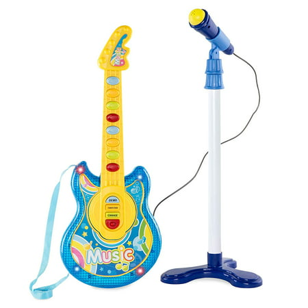Little Rock Star 19 Inch Flash Guitar Musical Guitar & Microphone Play-Set Toy, Great for Children Who Want's to Be A Rock