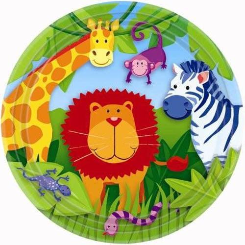 Jungle Animals Large Paper Plates (8ct)