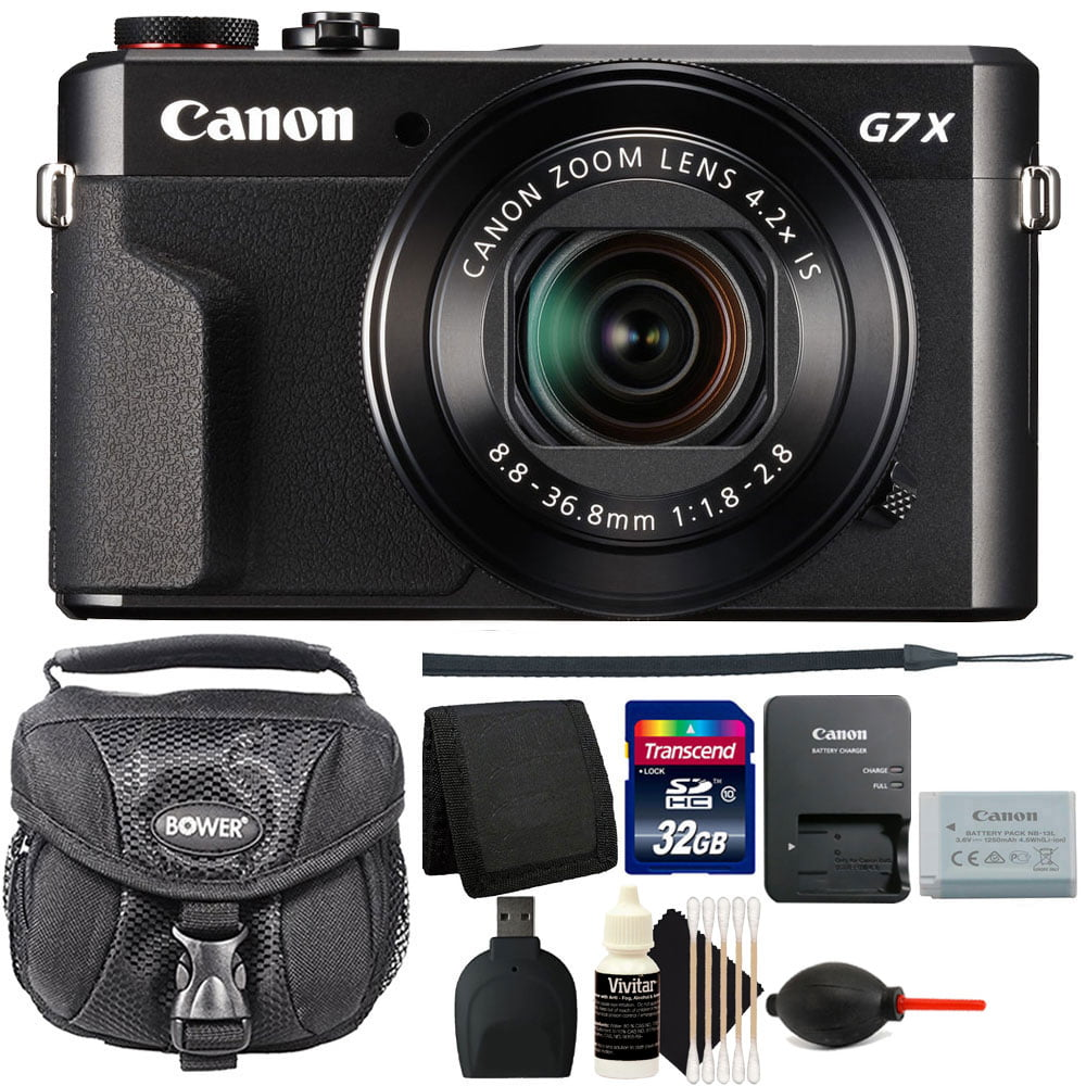 Canon G7X Mark II PowerShot 20.1MP Digital Camera Black with 32GB Accessory Kit by CanonInternational