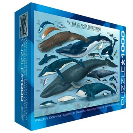EuroGraphics Whales and Dolphins Puzzle (1000-Piece)