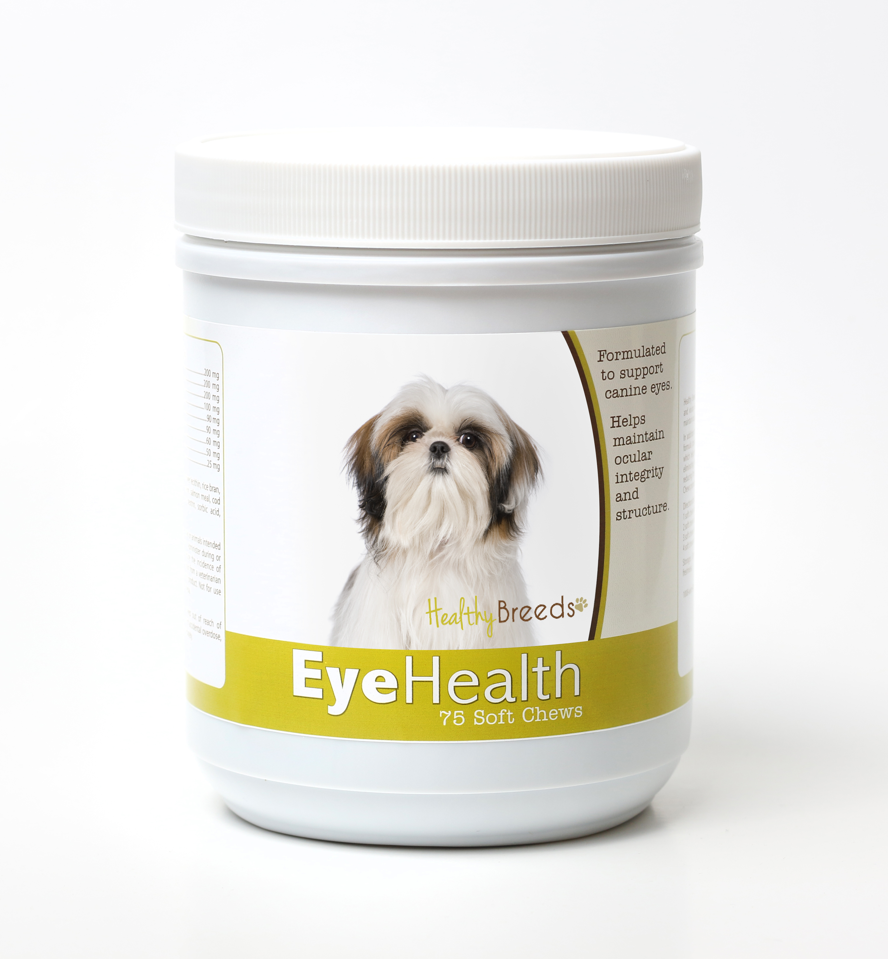 Healthy Breeds Dog Eye Health Support Soft Chews for Shih Tzu 75 Count