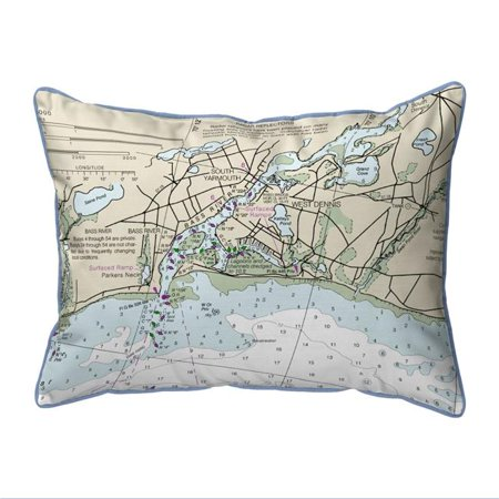 Drake Halloween Party (Betsy Drake ZP13229BR 20 x 24 in. Bass River, MA Nautical Map Extra Large Zippered Indoor & Outdoor)