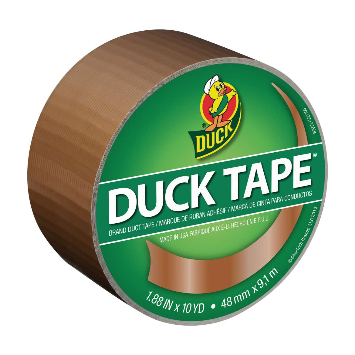 "Color Duck Tape Brand Duct Tape, Bronze, 1.88"" x 10 yd"