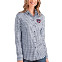 FC Dallas Antigua Women's Structure Button-Up Long Sleeve Shirt - Navy/White