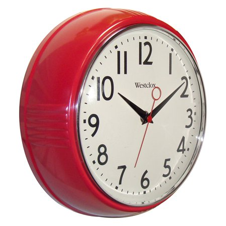 Westclox 32042r Retro 9 5 Round Kitchen Wall Clock