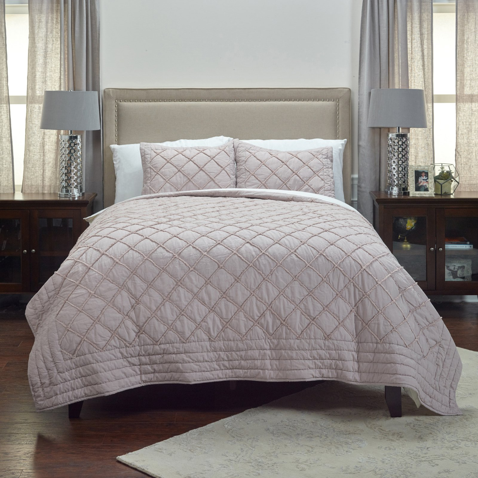 Rizzy Home BQ4235 Twin Quilt