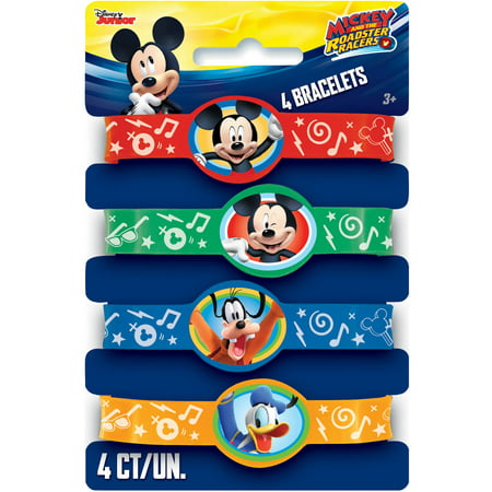 Mickey Mouse Rubber Bracelet Party Favors, Assorted, 4ct](Mickey Mouse Party Decor)