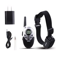 Rainproof Rechargeable Dog Shock Training Collar with Remote Adjustable Collar Length 300 Yard